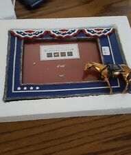 trail of painted pony patriot picture frame flag 4x6