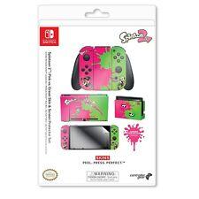 "Nintendo Switch Skin & Screen Protector-Splatoon 2 ""Pink Vs Green"""