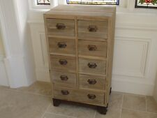 Chest of 9 Drawers Shabby Chic Distressed Pine Chest storage cabinet bedside