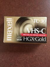 New listing New Maxell Vhs-C Hgx-Gold Tc-30 Blank Camcorder Video Tape Premium High Grade