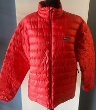 PATAGONIA Male Red Insulated Down Puffer Jacket - Size Medium (M)