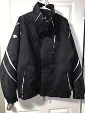 Descente Men's Ski Snow Black Jacket Coat Size L Zip Up Large EUC