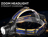 New LED Headlight Torch 6000Lm XM-L T6 Headlamp Head Light Lamp 18650 + Charger