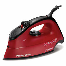 Morphy Richards 300265 2600W 350ml Breeze Steam Shot Iron in Red - Brand New