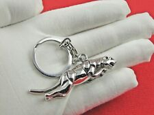 Schlüsselanhänger Jaguar Panther Leopard Edelstahl Autoschlüssel Katze Auto