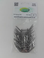 "50 Thick Stainless Steel ""W"" Greenhouse Glazing Clips"