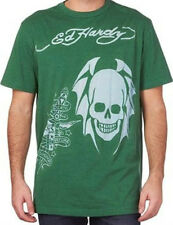 tee-shirt manches courtes ED HARDY vert taille XL - neuf