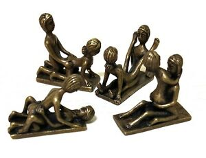 Brass Sex Position Figur Statue Amulet Sexual Lover Attraction Charm Craft Curio