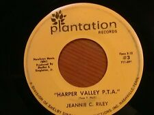 "JEANNIE C. RILEY 45 RPM ""Harper Valley P.T.A."" ""Yesterday All Day..."" G+ cond."