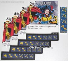 4x BIG BARDA: HELL HATH NO FURY 8/124 Batman Dice Masters DC