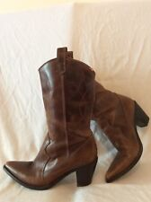 Studio Tmls Brown Mid Calf Leather Boots Size 39