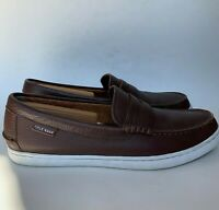 Cole Haan Nantucket Penny Loafers Brown Leather Slip On Dress Shoes Mens Sz 9.5M