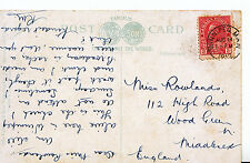 Genealogy Postcard - Family History - Rowlands - Wood Green - Middlesex   BH813