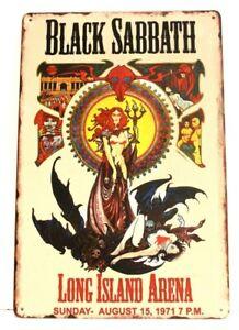 New Black Sabbath 1971 Concert Tin Metal Poster Sign Ozzy Osbourne Vintage Look