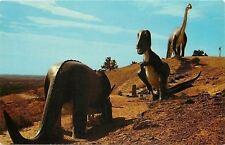 Rapid City Sd~Dinosaur Park~3 Giants~Brontosaurus~Tyran nosaurus Rex~Steps~1959