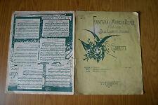 ANTICO SPARTITO MUSICALE FANFARA MARCIA REALE ESERCITO ITALIANO SUBALPINA