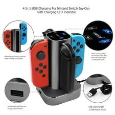 4 in 1 LED Charging Station For Nintendo Switch USB Charger Dock Stand JoyCon