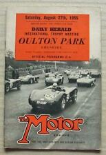 OULTON PARK 27 Aug 1955 DAILY HERALD INTL TROPHY MEETING Car Races Programme