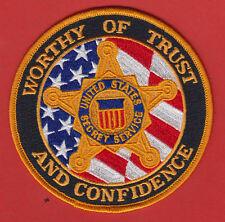 USSS  SECRET SERVICE WORTHY OF TRUST & CONFIDENCE SHOULDER PATCH  (Color)