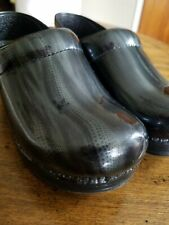 New Dansko Womens Gray Patent Leather Professional Clog Shoe Sz 36/6