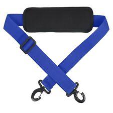 New Adjustable Replacement Shoulder Strap Padded Sling Hook Bag Laptop Bag Blue