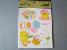 VTG 1976 EASTER Name Label STICKERS Hallmark SEALED PACKAGE 4 Sheets Chick Duck