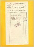 "BAYEUX (14) BOULANGERIE PATISSERIE ""A. PETITPAS Boulanger"" en 1913"