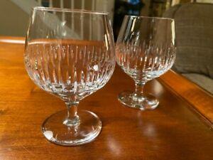 Atlantis Crystal - SONNET - Pair of Brandy Snifters - MINT