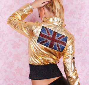 Women's Short Jacket Sexy Ladies Summer Casual Tattoo Redial Jacket Size 10 UK