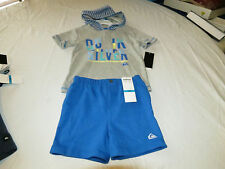 Quiksilver Boys baby youth hoody T shirt shorts set outfit 12 M month 4057032-99