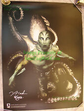 Hellboy's Abe Sapien The Drowning Signed Poster / Lithograph Mike Mignola Vhtf!