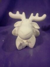 """Kimple Softee Moose or Reindeer ready to paint 10"""" x 6""""  ceramic bisque"""