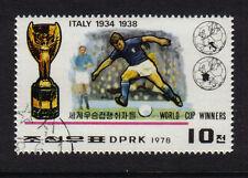 FOOTBALL WORLD CUP WINNERS ITALY ITALIA 1934 1938 CTO FULL GUM KOREA 1978