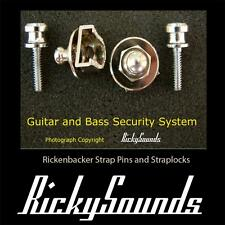 Strap Security System for Rickenbacker Guitar or Bass