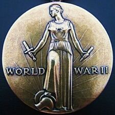WW 2 UNITED STATES VICTORY MEDAL AWARDED FOR SERVICE AGAINST JAP & GERMAN FORCES
