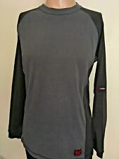 Independent Truck Company Long Sleeve Knit Raglan Shirt Charcoal Black Patches M