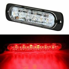4X 6 LED Emergency Strobe Beacon Flash Strobe Amber 12/24V Light Car Truck Red