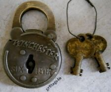 Winchester 6 lever lock old west padlock