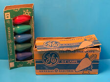 Vtg NOS Collectible General Electric Christmas Tree Lamps C-6 Series In Package