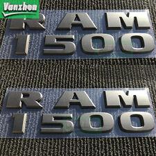 2PC NEW DODGE RAM 1500 3D MATTE BLACK SIDE FENDERS 3M LOGO EMBLEM LETTERS BADGE