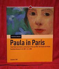 Modersohn-Becker, Paula in Paris Kalender Kunsthalle Bremen 2006 - NEU