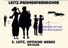 Fernrohr Leitz Wetzlar Reklame 1923 Autorennen Werbung Fernglas Prismenglas +