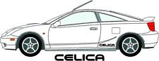 2 x Toyota Celica Side Stickers, Decals Choice Of Colours