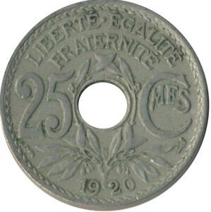 COIN / FRANCE / 25 CENTIMES 1920   #WT8614
