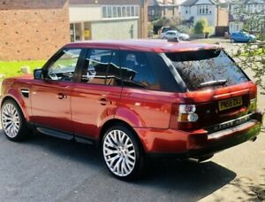 2005 55 RANGE ROVER SPORT 4.2 V8 SUPERCHARGED 5DR SUV PETROL AUTO RED KAHN