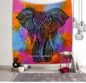 Indian Tapestry Wall Hanging Bohemian Hippie Queen Bedspread Mandala Throw Decor