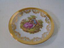 Kleiber 22 Karat Goldauflage Bavaria Regnitzlosau Porz Germany Small Plate Dish