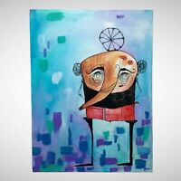 "PAINTING ORIGINAL ACRYLIC ON CANVAS CUBAN ART 18""X24"" by LISA."