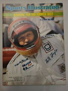May 19 1975 ~ Vintage Sports Illustrated Magazine ~ A. J. Foyt Indy 500 5/19/75