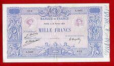 (Ref: G.185 )  1000 FRANCS ( BLEU ET ROSE ) 18/02/1925 (SUP-) ETAT RARE
